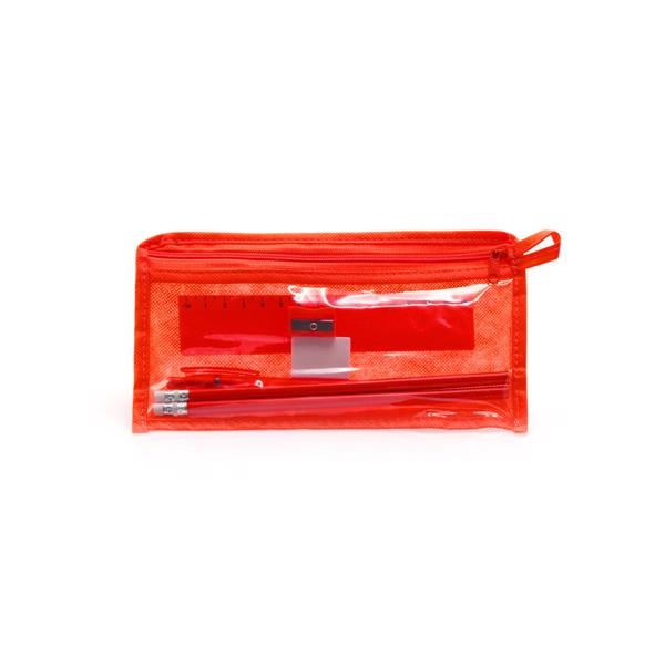 Pencil Case Set Baiku - Red