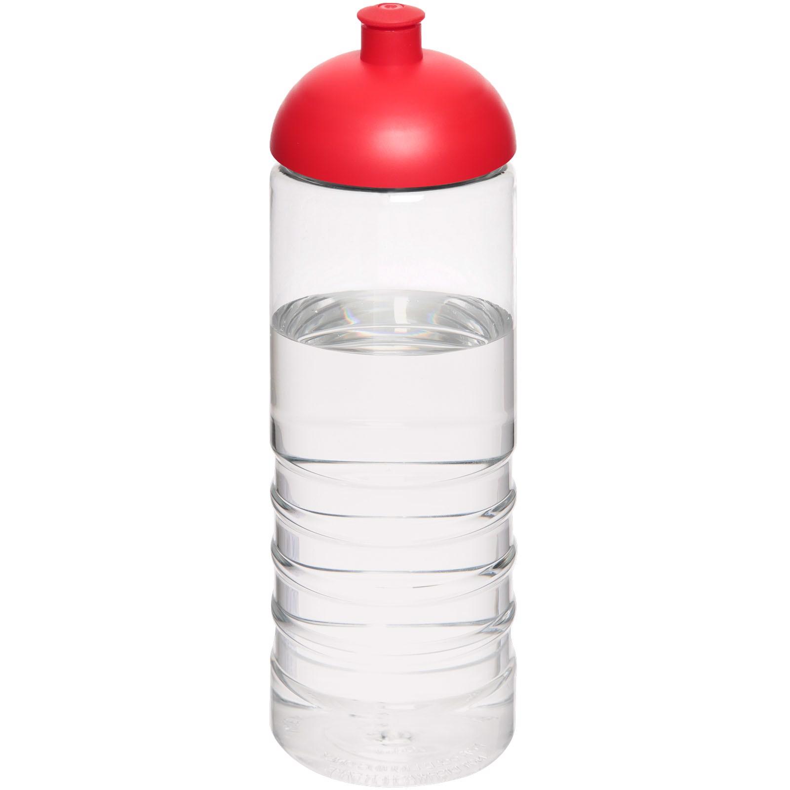 H2O Treble 750 ml sportovní lahev s kupolovitým víčkem - Průhledná / Červená s efektem námrazy
