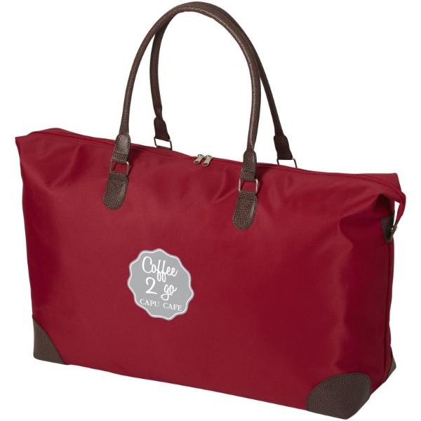 Víkendová taška Adalie - Červená s efektem námrazy