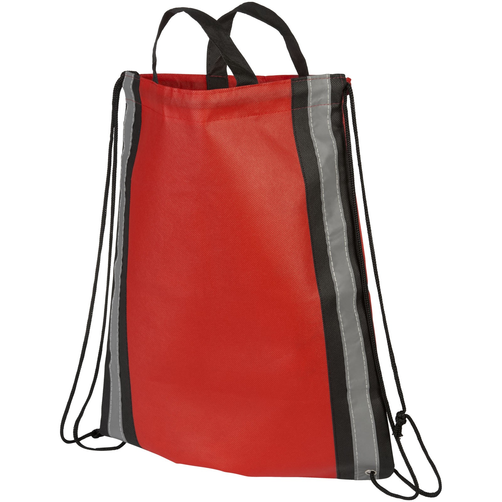 Reflective non-woven drawstring backpack - Red
