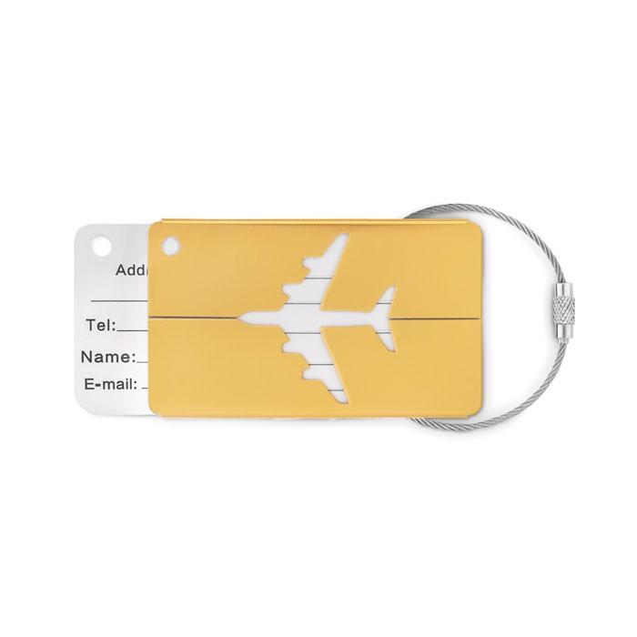 Zawieszka na bagaż Fly Tag - matowy złoty