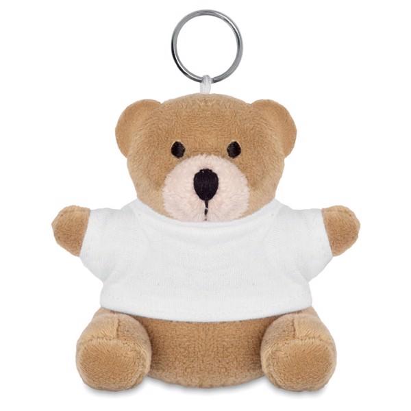 Teddy bear key ring Nil - White