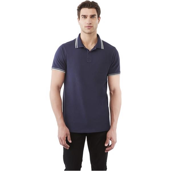 Polo tipping manches courtes homme Fairfield - Marine / Gris Mélangé / Blanc / XL