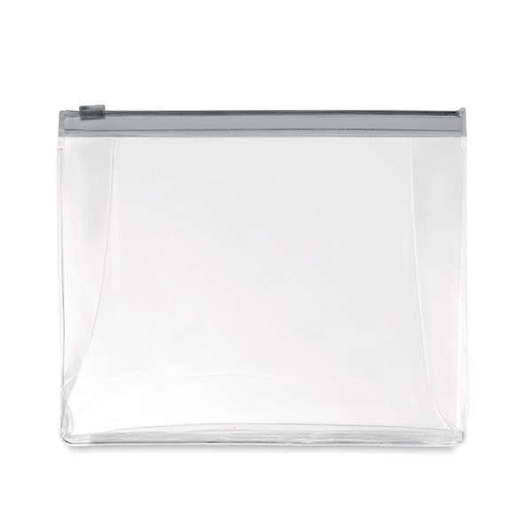 Cosmetic pouch with zipper Cosmobag - Transparent Grey