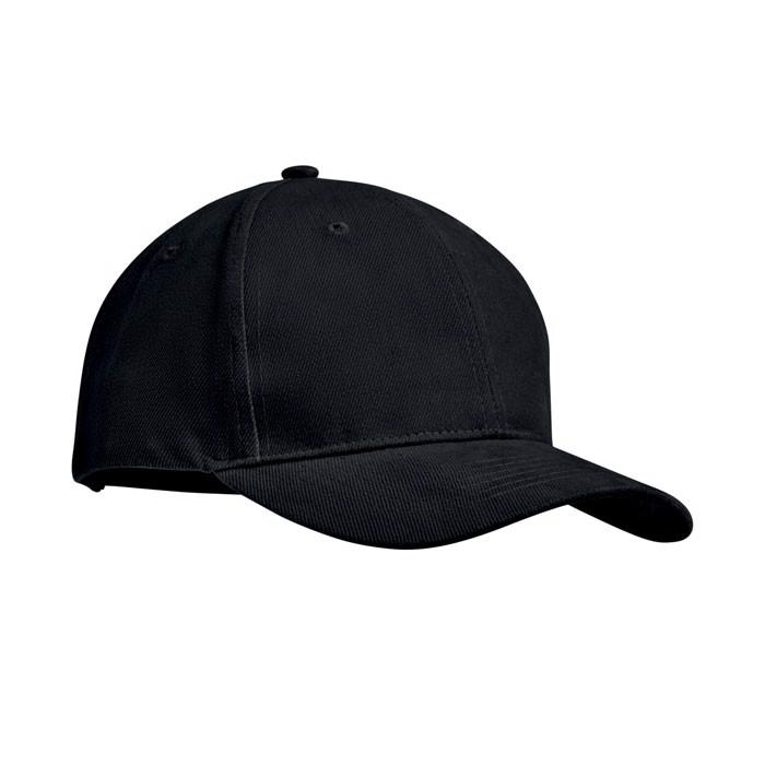 Šestipanelová kšiltovka Tekapo - black