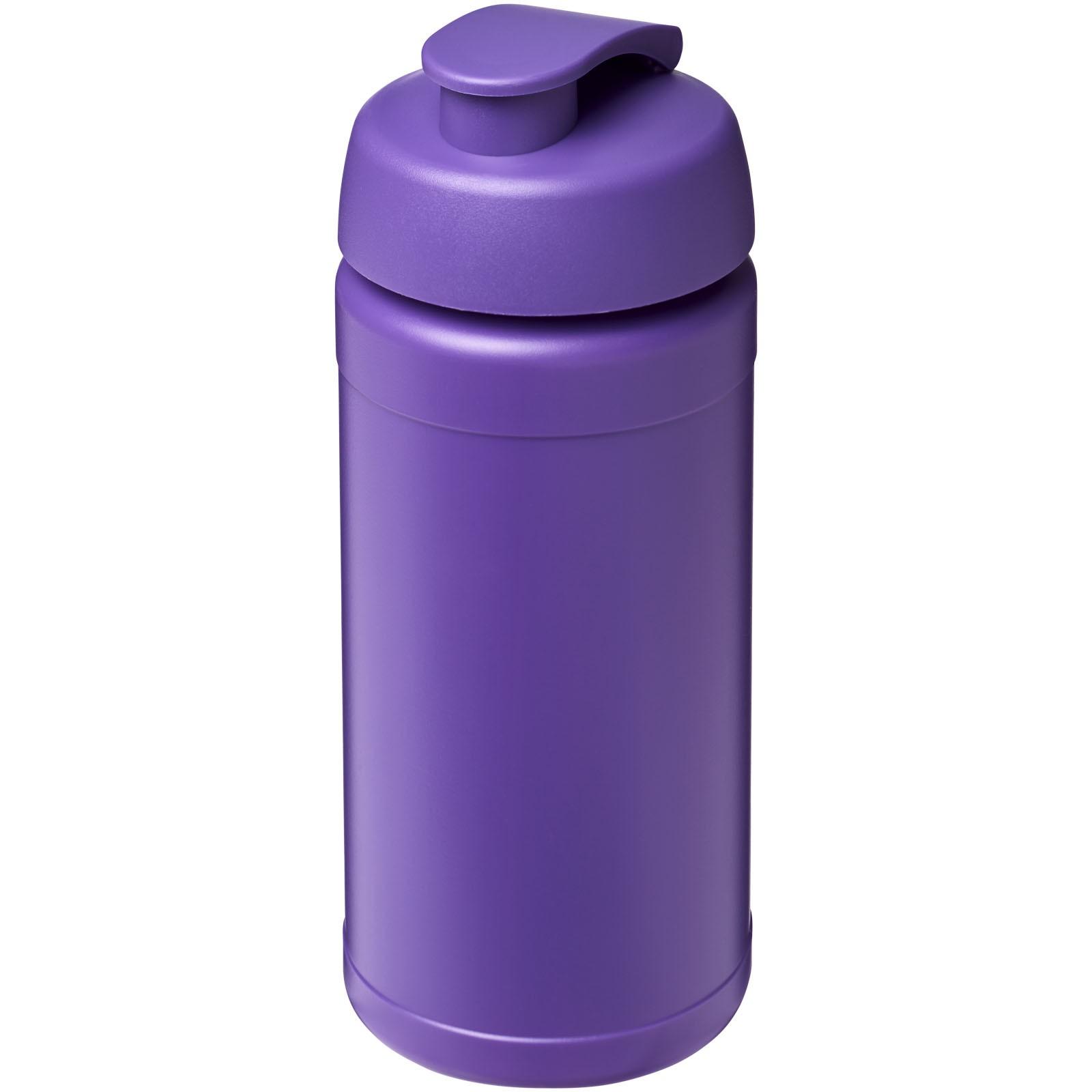 Sportovní láhev s vyklápěcím víčkem Baseline® Plus 500 ml - Purpurová