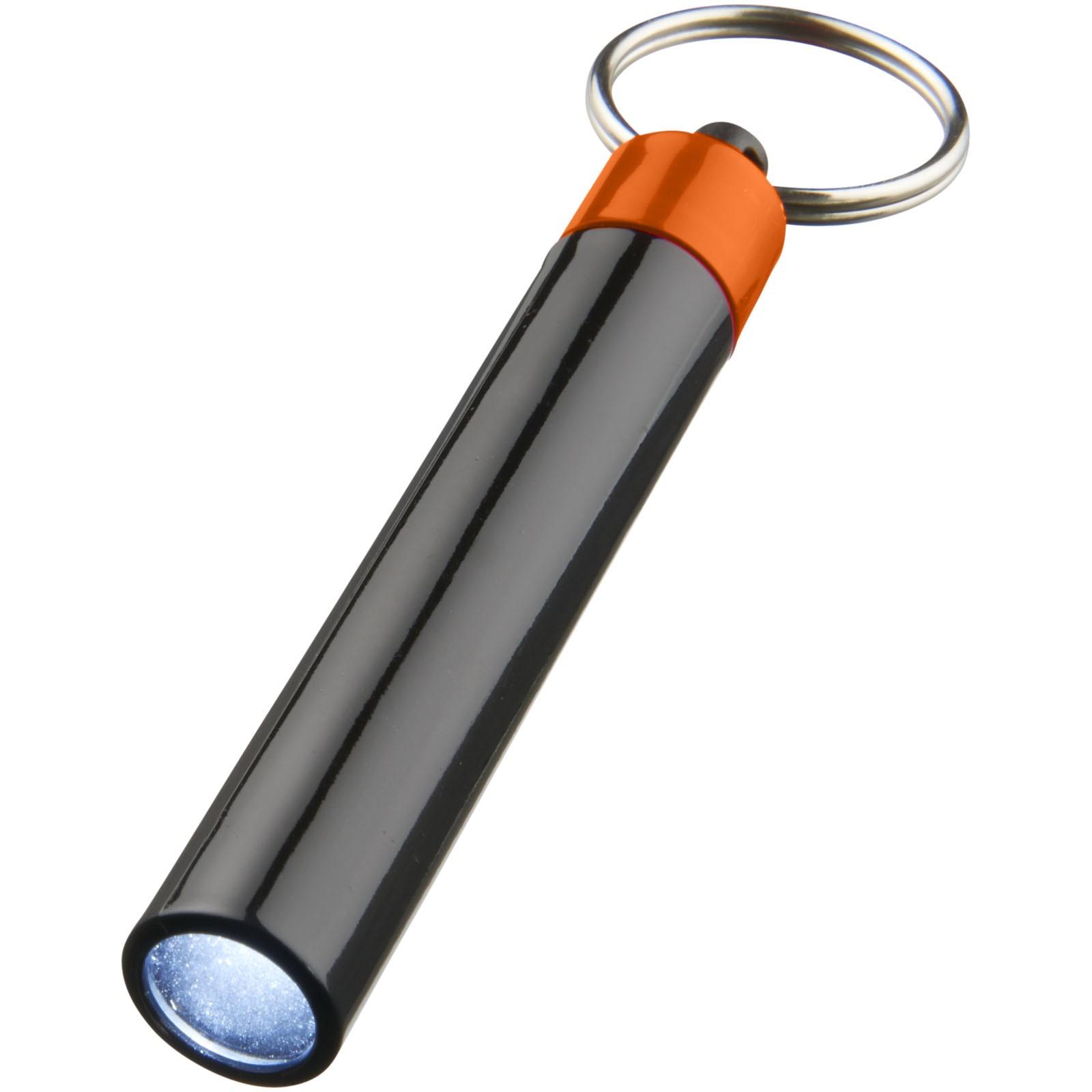 Kvalitní klíčenková svítilna Retro - 0ranžová / Černá