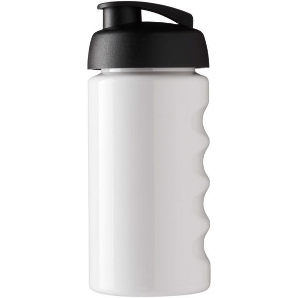 H2O Bop® 500 ml Sportflasche mit Klappdeckel - Weiss / Schwarz