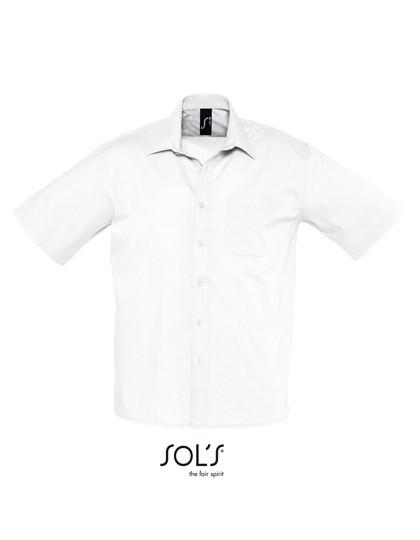 Popeline-Shirt Bristol Shortsleeve - White / 4XL