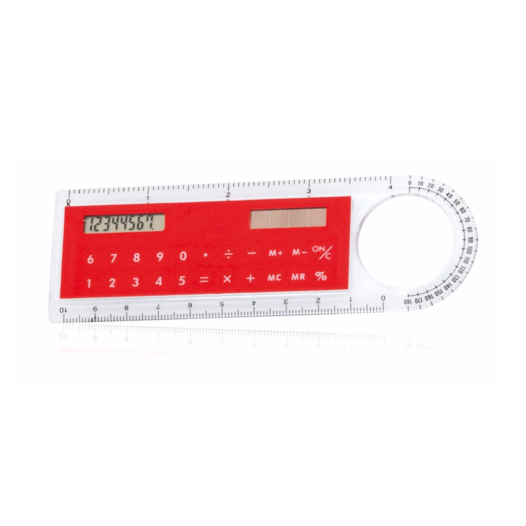 Regla Calculadora Mensor - Rojo