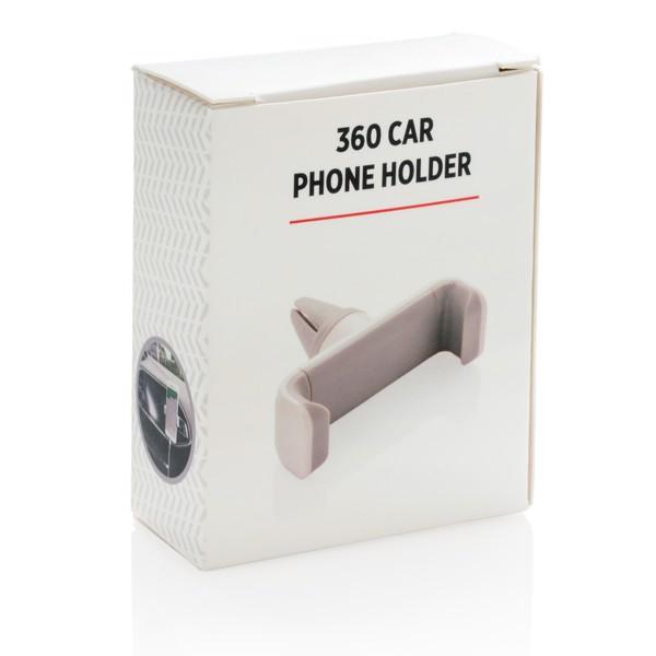 360° držák telefonu do auta - Bílá