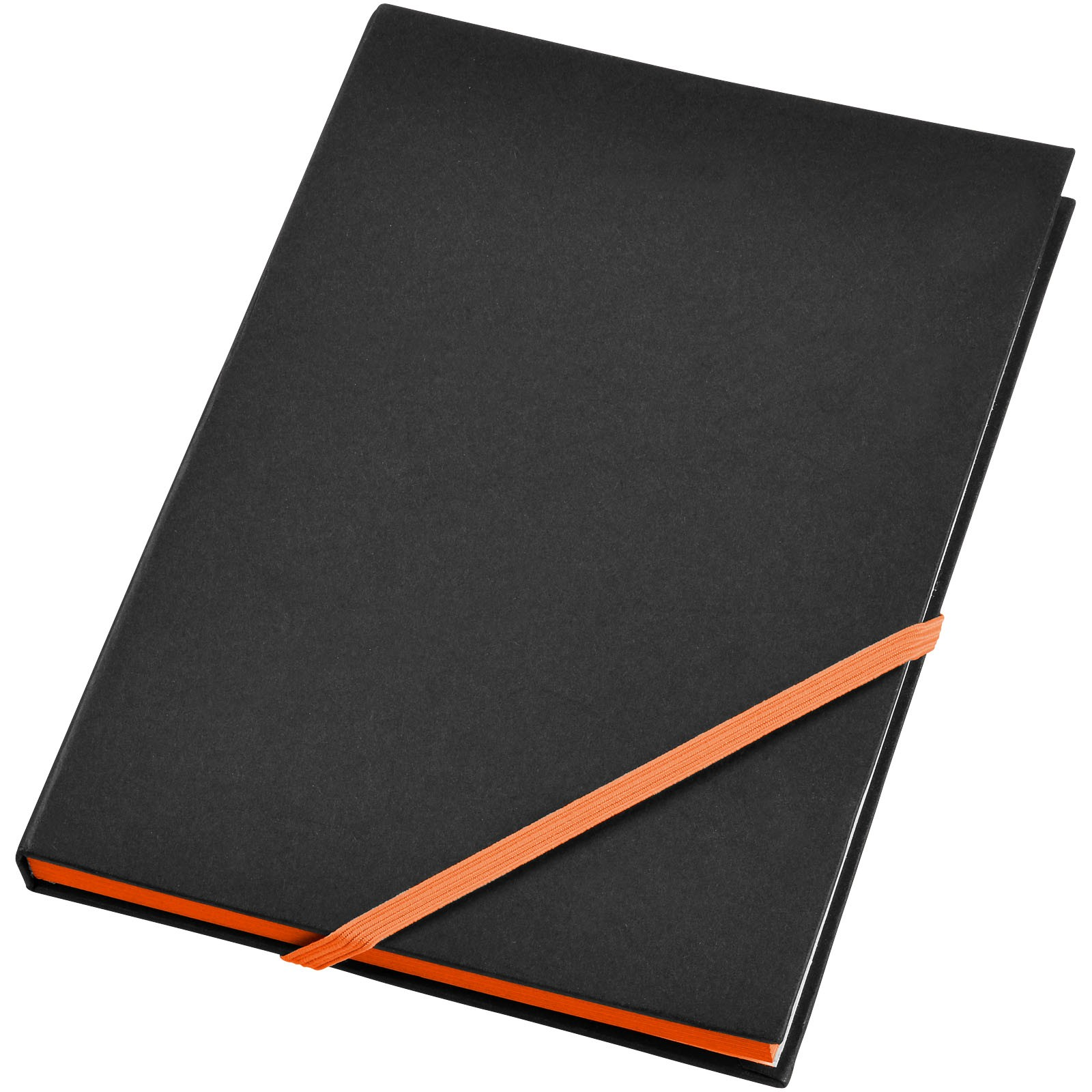 Travers hard cover notebook - Solid Black / Orange