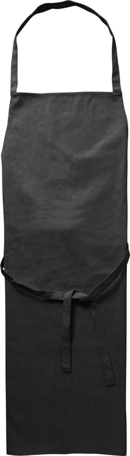 Cotton (180 gr/m²) apron - Black