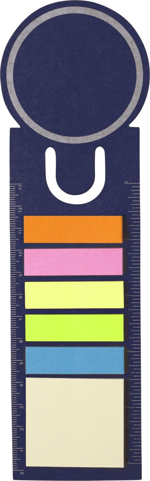 Cardboard bookmark - Blue