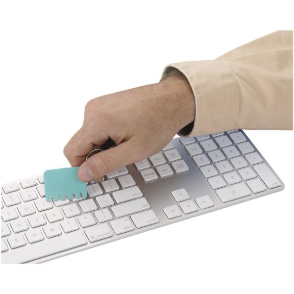 Klíčenkový silikonový kartáček na klávesnici Whisk - Mátově Zelená