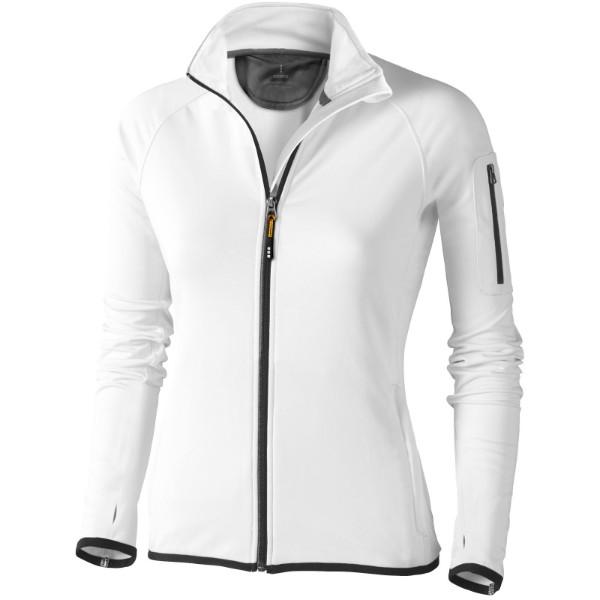Mani women's performance full zip fleece jacket - White / M