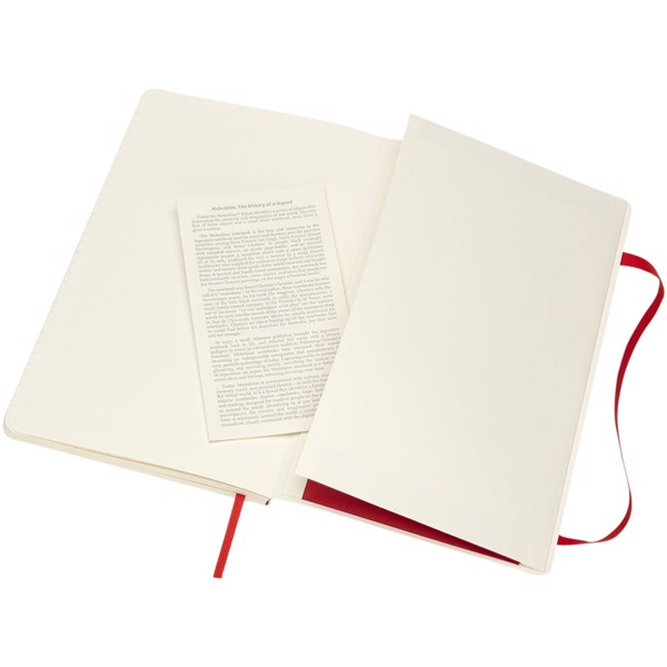 Classic L soft cover notebook - ruled - Scarlet red