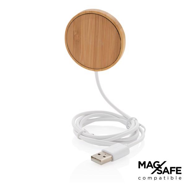 10W-os, mágneses, bambusz vezeték nélküli töltő