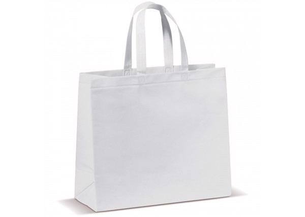 Carrier bag laminated non-woven large - White