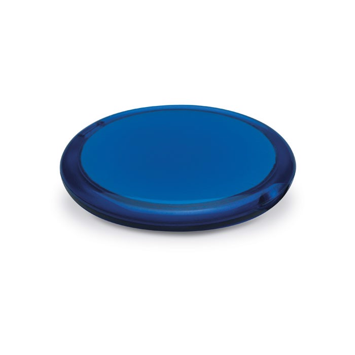 Rounded double compact mirror Radiance - Transparent Blue