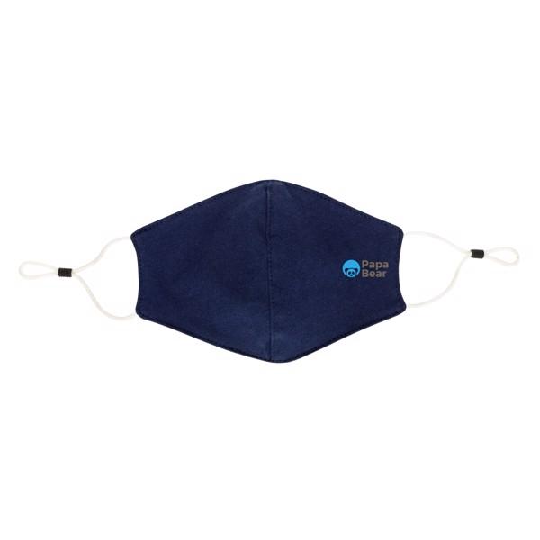 Opakovaně použitelná 2vrstvá bavlněná rouška - Námořní Modř