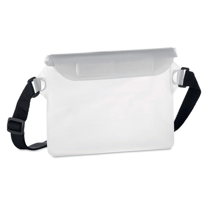 Wasserfeste Gürteltasche Waistphone - transparent weiß