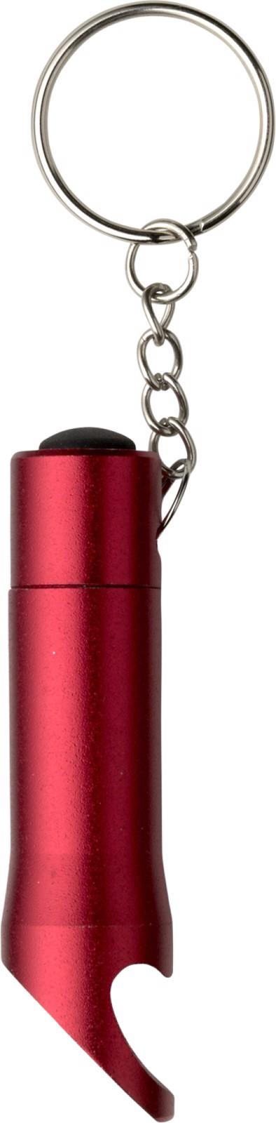 Aluminium 2-in-1 key holder - Red