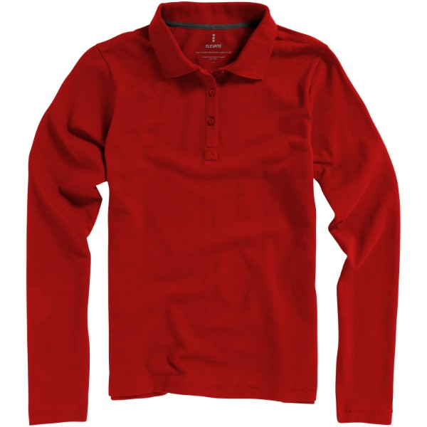 Oakville long sleeve women's polo - Red / S