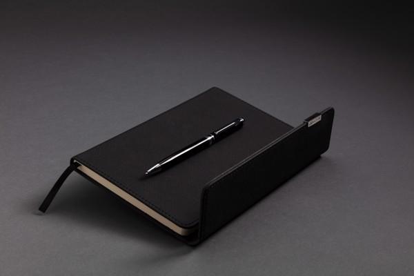 Swiss Peak deluxe A5-ös méretű jegyzetfüzet és toll készlet