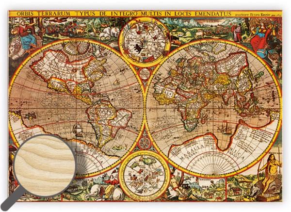 Dřevěný obraz Antique Maps