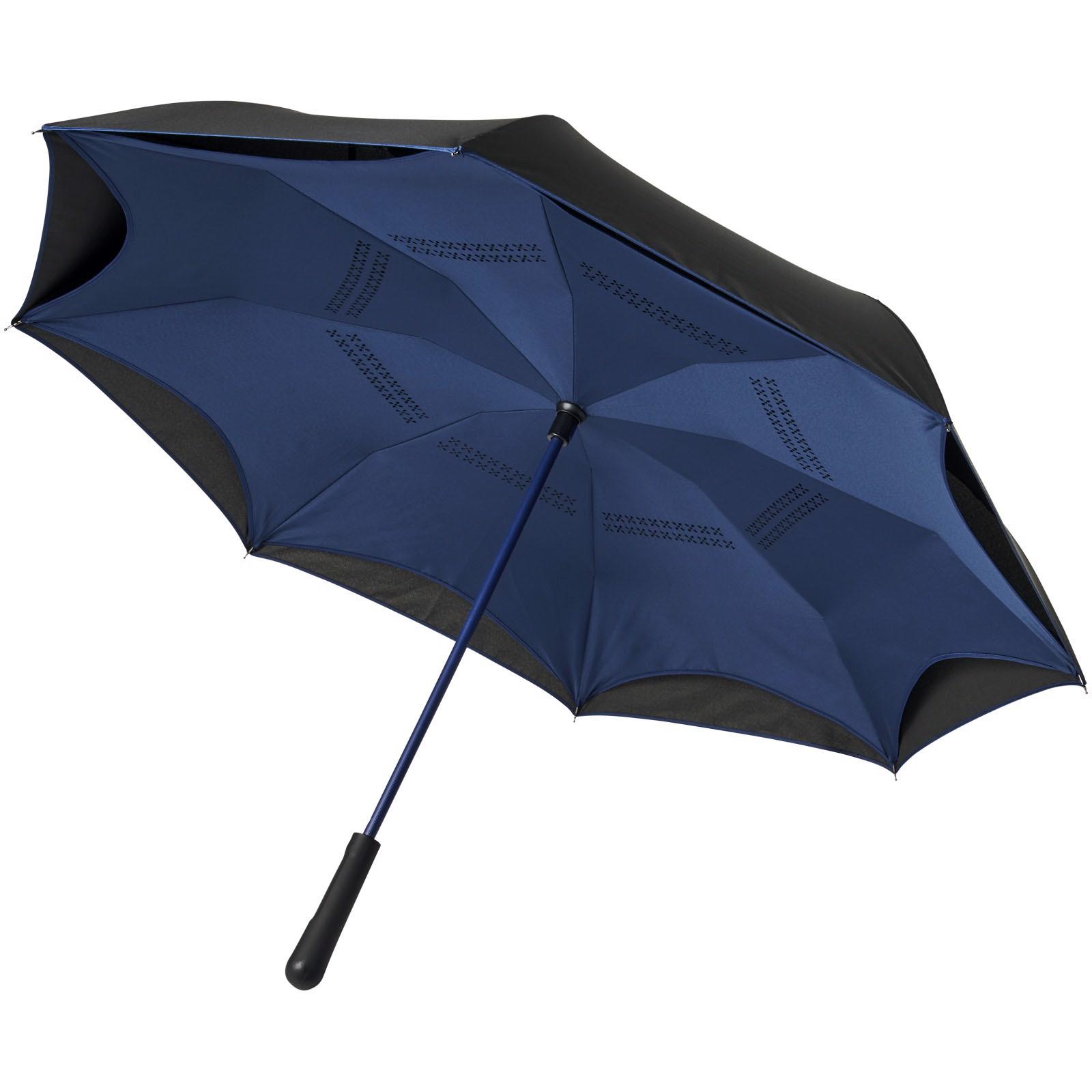 """Yoon 23"""" inverzně barevný rovný deštník - Navy / Černá"""
