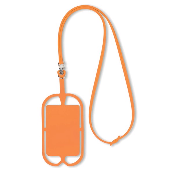 Silicone smartphone hanger Silihanger - Orange