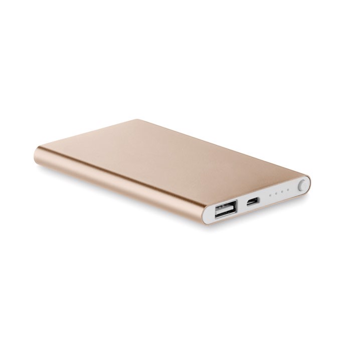 Flat power bank 4000 mAh Powerflat - Champagne