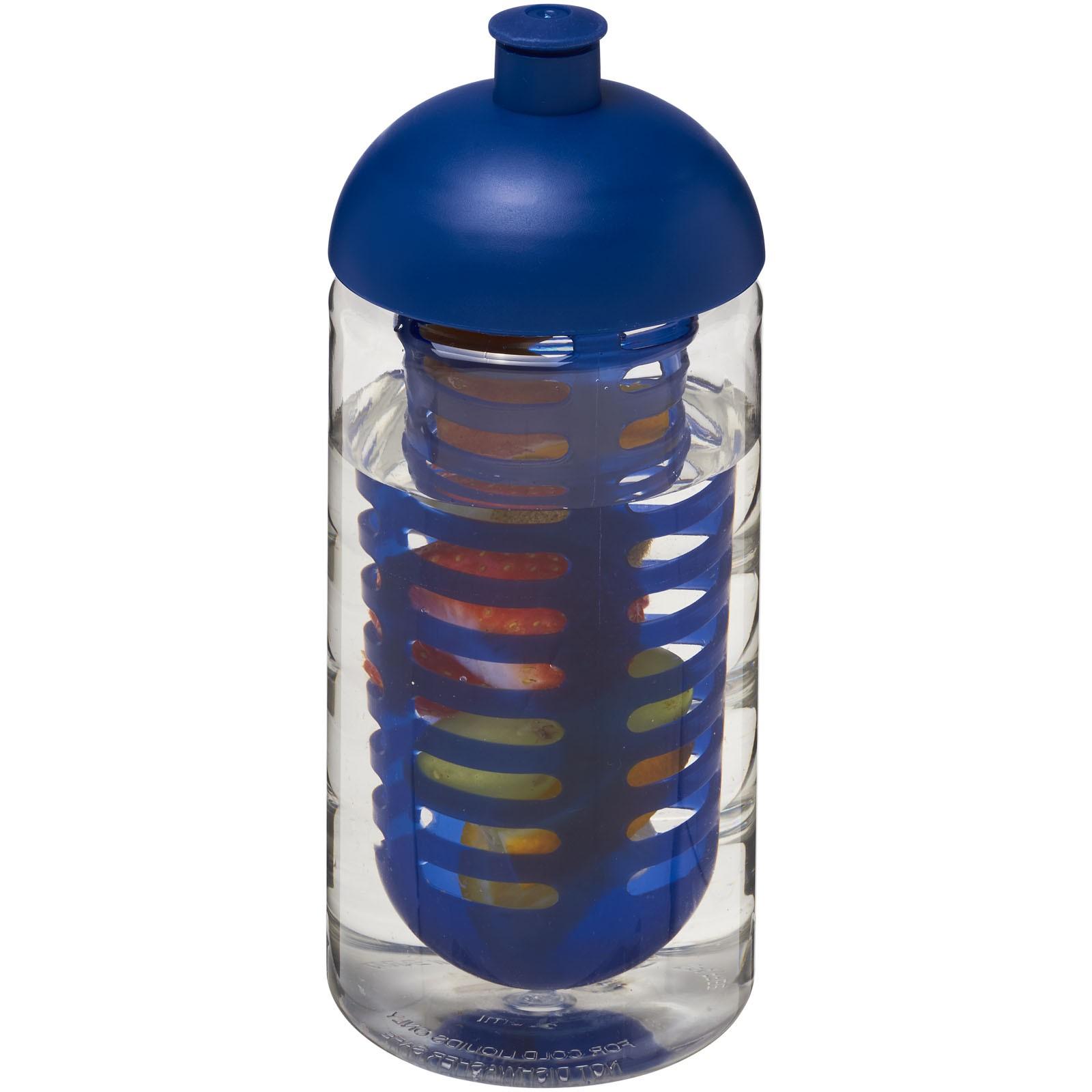 H2O Bop® 500 ml dome lid sport bottle & infuser - Transparent / Blue