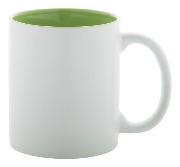Hrnek Revery - Bílá / Limetková Zelená