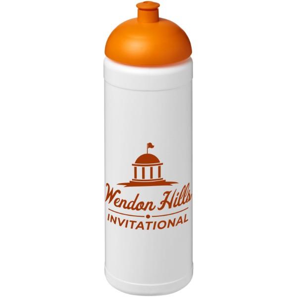 Sportovní láhev s kupolovitým víčkem Baseline® Plus 750 ml - Bílá / 0ranžová