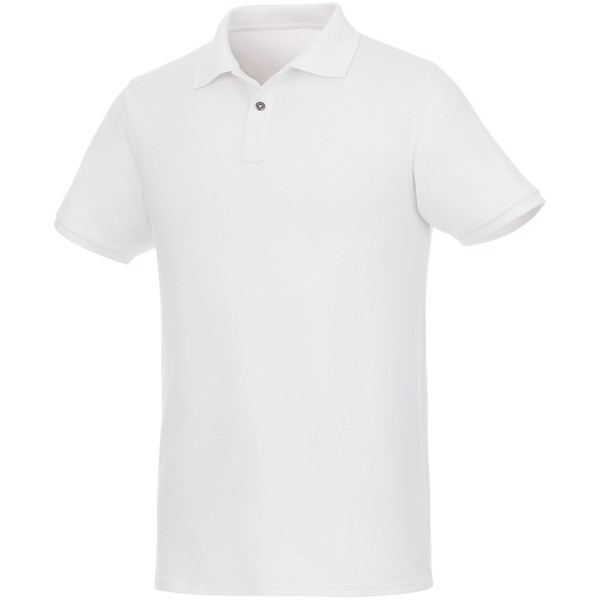 Beryl short sleeve men's GOTS organic GRS recycled polo - White / XL