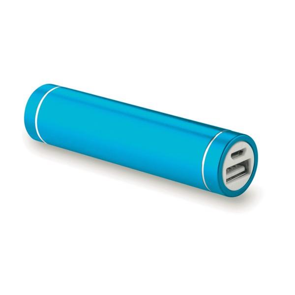 Cylinder shape powerbank Powerovale - Blue