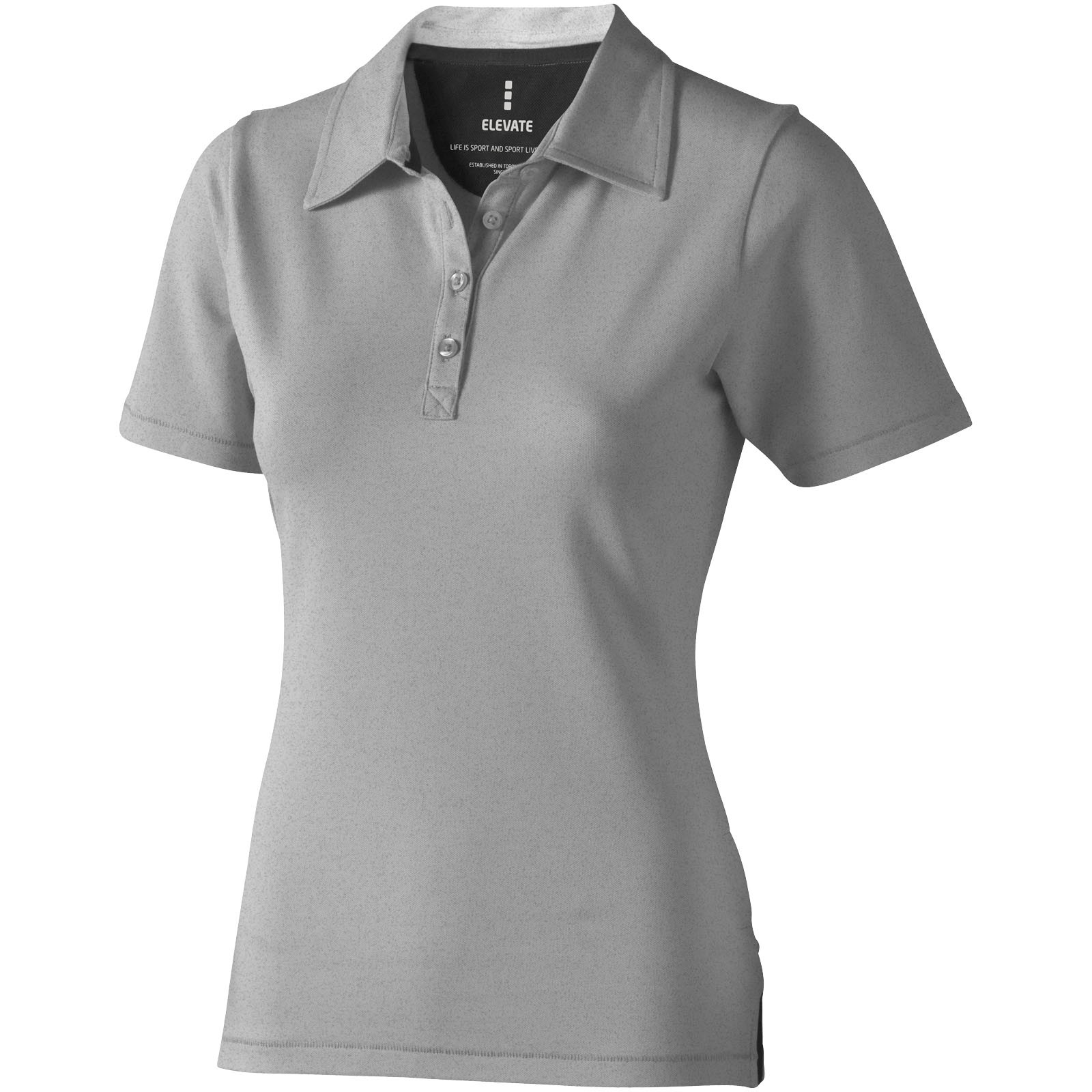 Markham short sleeve women's stretch polo - Grey melange / M