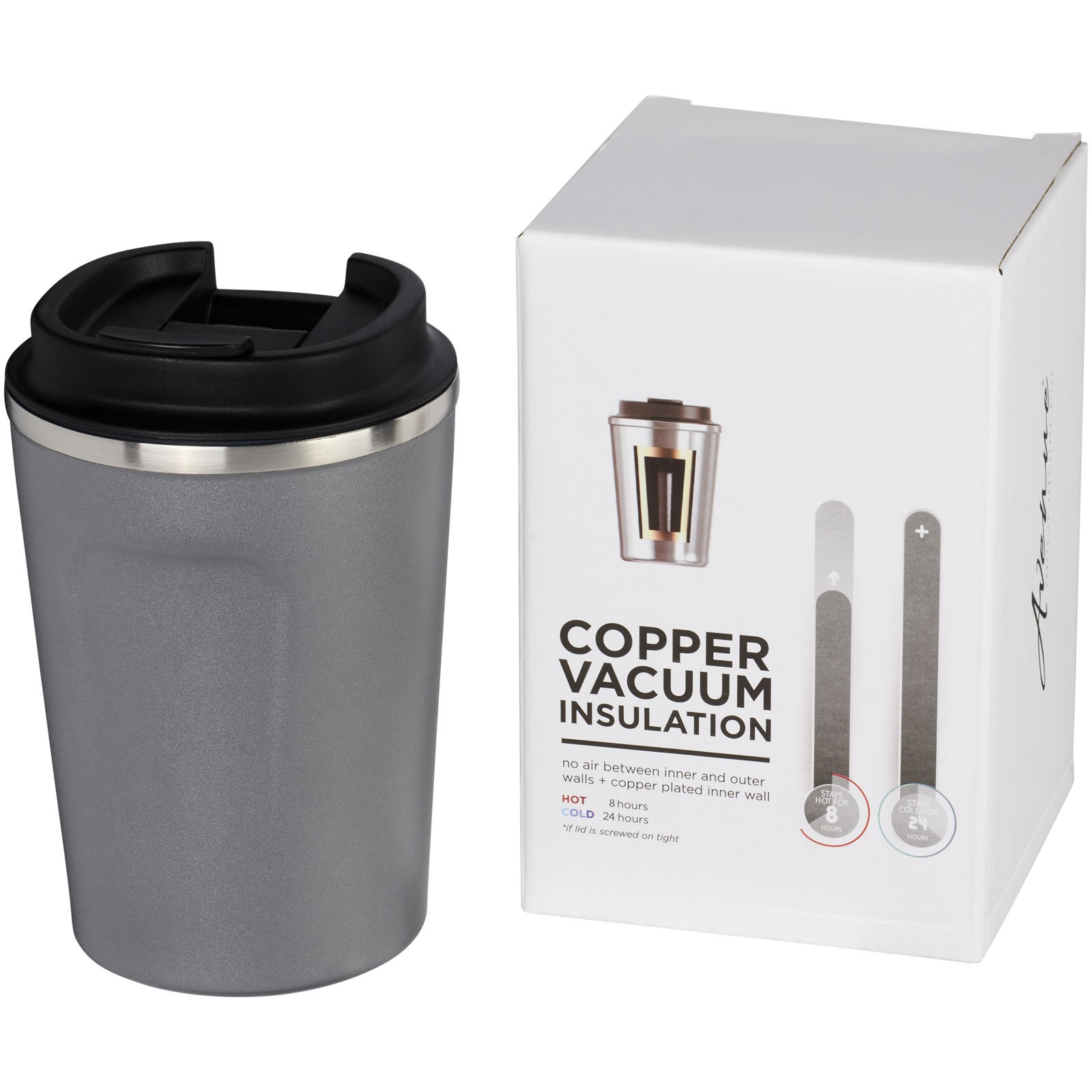 Thor 360 ml leak-proof copper vacuum tumbler - Grey
