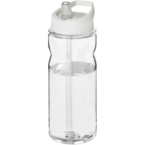 Sportovní láhev s víčkem s hubičkou Base Tritan™ 650 ml - Průhledná / Bílá