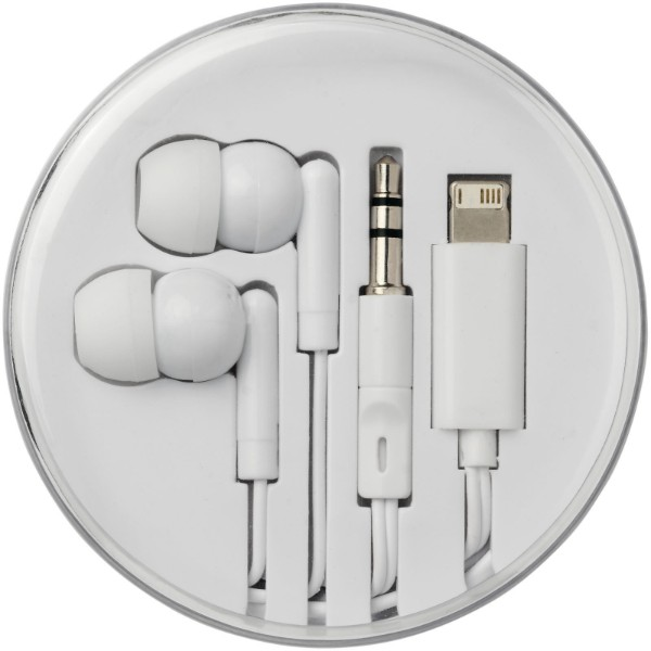 Switch earbuds with multi tips - White
