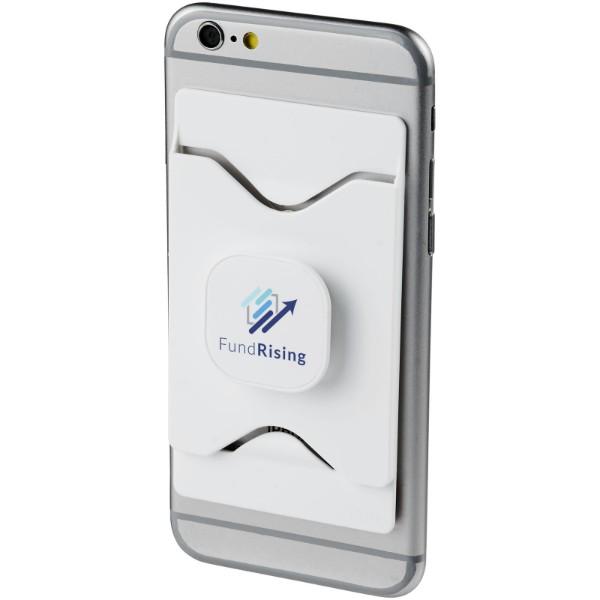 "Soporte para teléfono móvil con cartera ""Purse"" - Blanco"