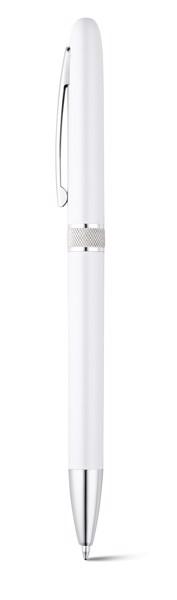 LENA. Ball pen with metal clip - White