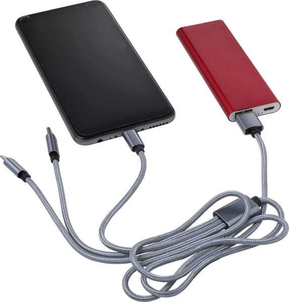 Nylon charging cable - Cobalt Blue