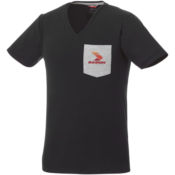Gully pánské pocket tričko s krátkým rukávem - Černá / Sport grey / L