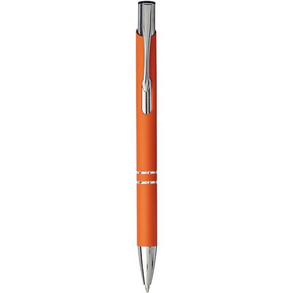 Moneta soft touch click ballpoint pen - Orange