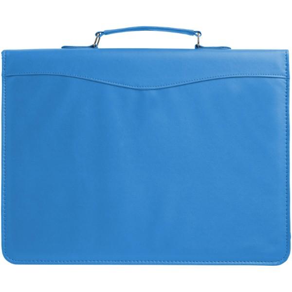 Ebony A4 briefcase portfolio - Aqua Blue