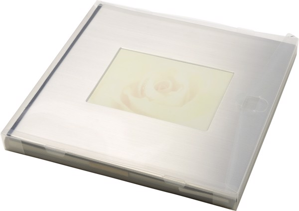Luxurious photo album with stainless steel cover