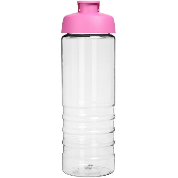H2O Treble 750 ml sportovní lahev s vyklápěcím víčkem - Průhledná / Růžová